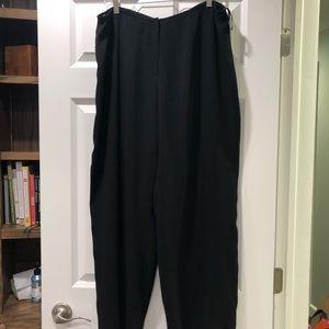 Eileen Fisher Stretch Silk Georgette Pants XL